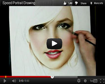 Drawing video Britney Spears