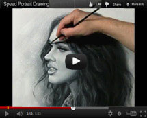 Megan Fox Drawing portrait video