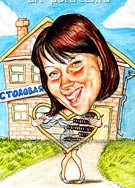 Caricature Picture of a bookkeeper