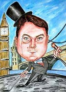 caricature drawing from Great Britain