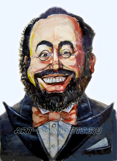 Luciano Pavarotti cartoon