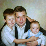 Family portrait oil painting
