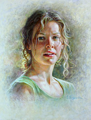 Evangeline Lilly painting portrait 2015