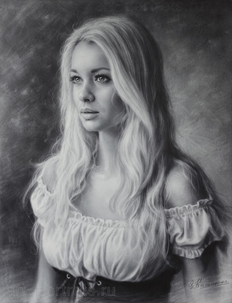 Drawn Beautiful Girl Black And White