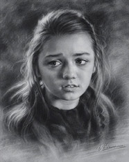 Young girl drawing 2015