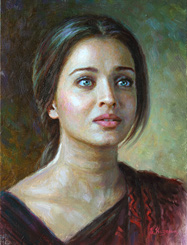 Aishwarya Rai Bachchan oil on canvase