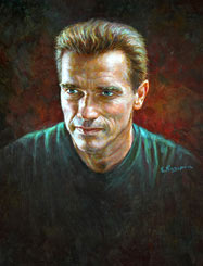Celebrity Paintings Arnold Schwarzenegger