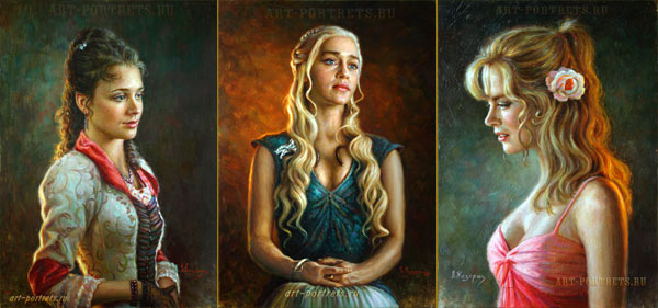 Paintings of famous people