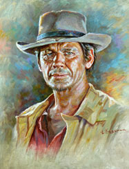Celebrity Paintings American actor Charles Bronson