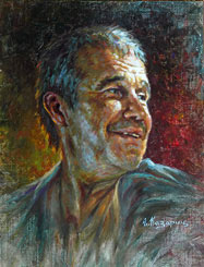Sergey Garmash Painting. Russian actor