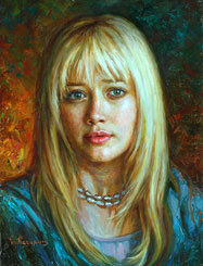 Hilary Duff Painting. Beautiful actress