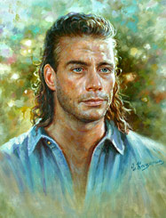 Celebrity Paintings Jean-Claude Van Damme