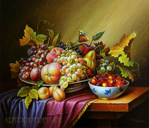 Still Life Fruits Painting By Artist Igor Kazarin