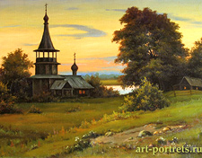 Landscape with Church in the Summer
