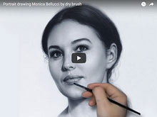Portrait of Bellucci video drawing