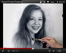 Portrait drawing video. Actress Brittney Karbowski 2017