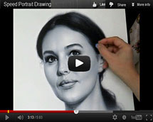Drawing video Monica Bellucci