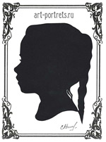silhouette of a little girl